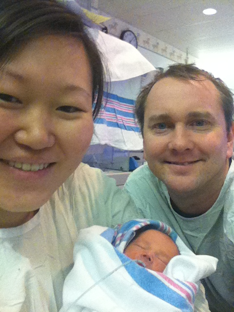 Our first family selfie in the NICU